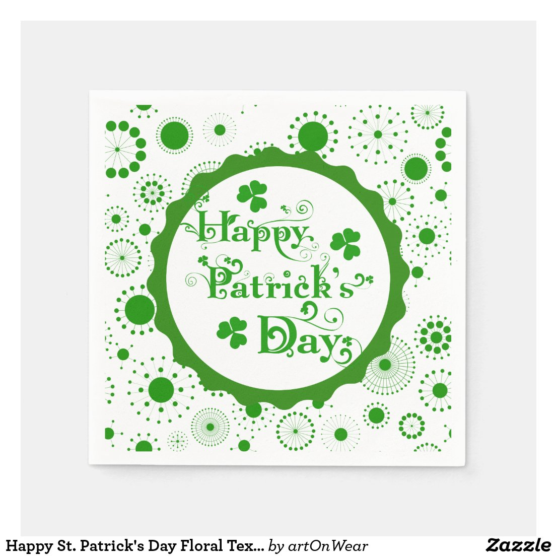 Happy St. Patrick's Day Floral Text Design