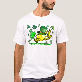 Happy St. Patrick's Day Goldfish Green Shamrocks T-Shirt