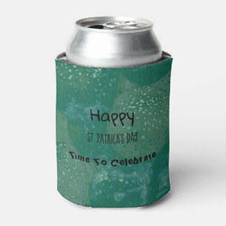 Happy St. Patrick's Day Green Balloons Can Cooler