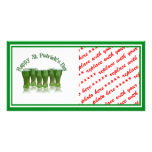 Happy St Patrick's Day Green Beer Photo Greeting Card
