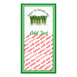 Happy St Patrick's Day Green Beer Customized Photo Card