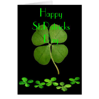 HAPPY ST.PATRICKS DAY GREETING CARD