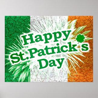 Happy St. Patricks Day Grunge Style Design Poster