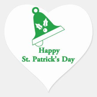 Happy St Patrick's Day Heart Sticker