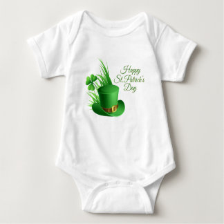 Happy St Patrick's day, holiday Irish hat saint Baby Bodysuit