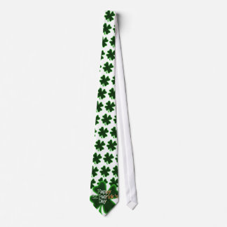 Happy St Patrick's Day (Irish Flag Color Text) Tie