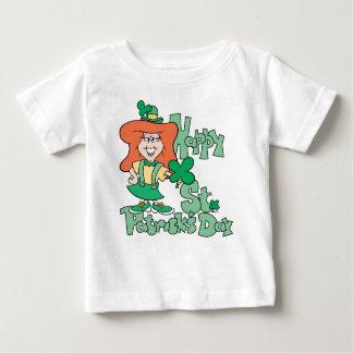 Happy St. Patrick's Day Irish Girl Baby T-Shirt
