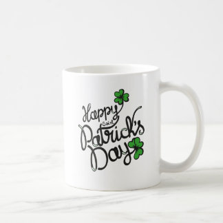Happy St Patricks Day Irish Shamrock Coffee Mug