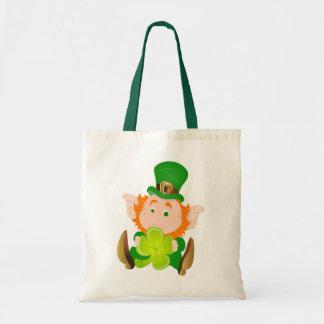 Happy St, Patrick's Day Lebrechaun Tote Bag