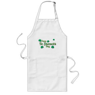 Happy St Patrick's Day Long Apron