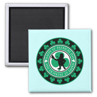 Happy St. Patrick's Day Square Magnet