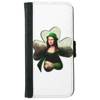 Happy St Patrick's Day Mona Lisa Shamrock iPhone 6 Wallet Case