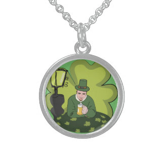 HAPPY ST. PATRICK'S DAY STERLING SILVER NECKLACE