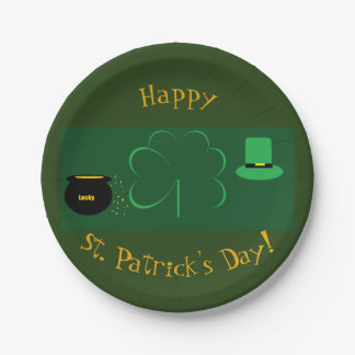 Happy St. Patrick's Day Paper Plate