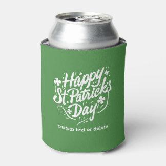 Happy St Patricks Day Party Shamrocks Custom Beer