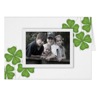 Happy St. Patrick's Day Photo Greeting Card