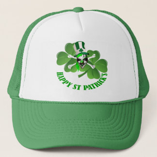 Happy St patricks day pirate Trucker Hat