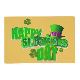 Happy St. Patrick's Day Placemats Laminated Place Mat