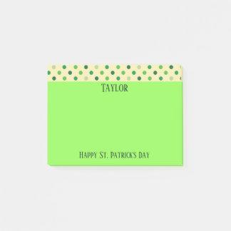 Happy St Patricks Day Polka Dots Post-it Notes