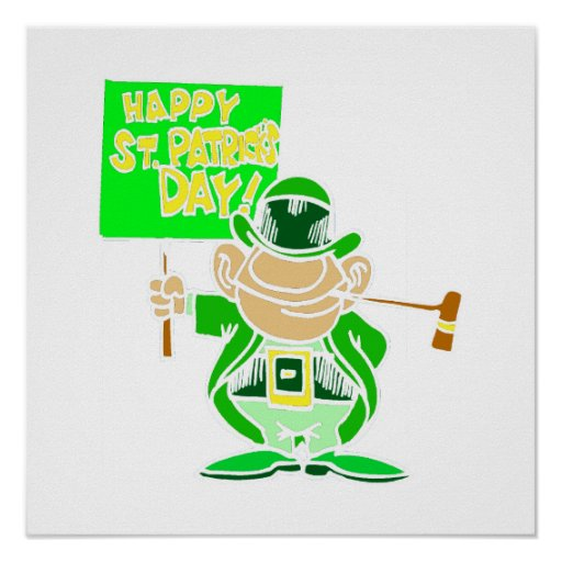 Happy ST Patrick's Day Posters