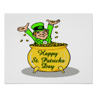 Happy St. Patricks Day Pot Of Gold Poster