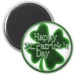 Happy St. Patricks Day Shamrock Refrigerator Magnets