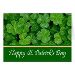 Happy St. Patrick's Day Shamrocks Card