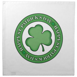 Happy St Patricks Day Shield Napkin