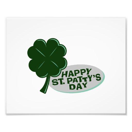 happy st patricks day single clover.png art photo