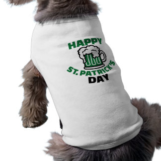 Happy St. Patrick's day Sleeveless Dog Shirt