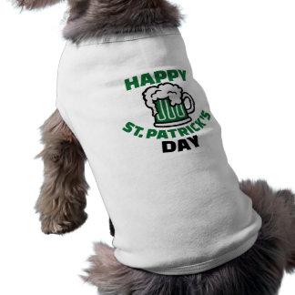 Happy St. Patrick's day Sleeveless Dog Shirt