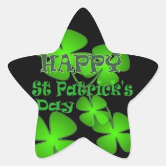 Happy St Patricks Day Star Sticker