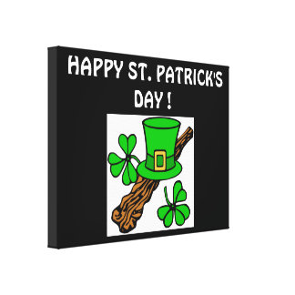 HAPPY ST.PATRICK'S DAY STRETCHED CANVAS PRINTS