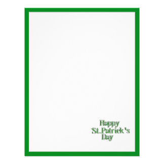 Happy St Patrick's Day Text Image Custom Flyer
