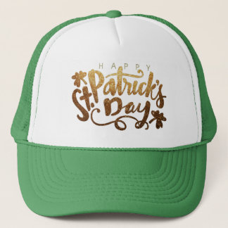 Happy St. Patrick's Day Typography. Trucker Hat
