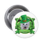 Happy St Patricks Day Westie 6 Cm Round Badge