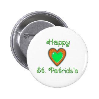 HAPPY ST. PATRICK'S HEART by SHARON SHARPE 6 Cm Round Badge
