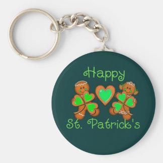 HAPPY ST. PATRICKS & KIDS by SHARON SHARPE Basic Round Button Key Ring