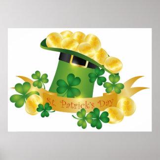 Happy St. Patricks Leprechaun Hat Poster