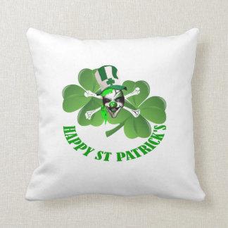 Happy St Patrick's scary clown Cushion