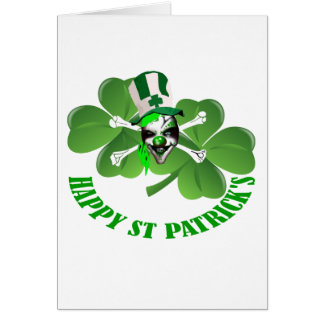 Happy St Patrick's scary clown Greeting Card
