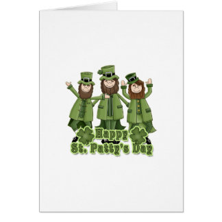 Happy St Patty s Day Leprechauns Greeting Cards