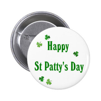 Happy St Patty's Day 6 Cm Round Badge