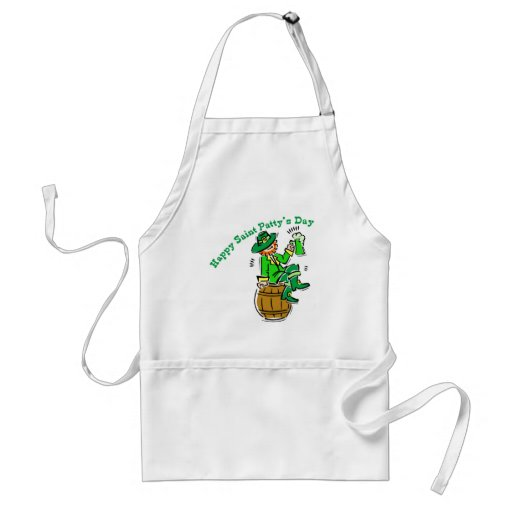 Happy St Patty's Day Aprons