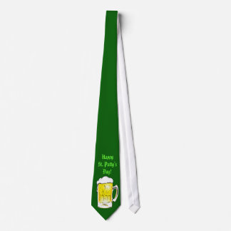 Happy St. Patty's Day Beer Mug Tie