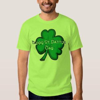 Happy St. Patty's Day bright green shamrock tee