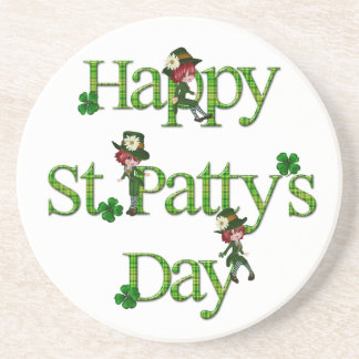 Happy St. Patty's Day Drink Coasters