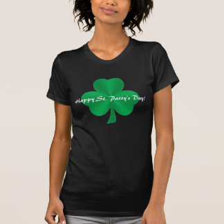 Happy St. Patty's Day! Green Satin Shamrock Shirt