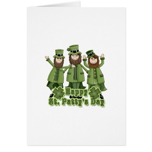 Happy St Patty's Day Leprechauns Greeting Cards
