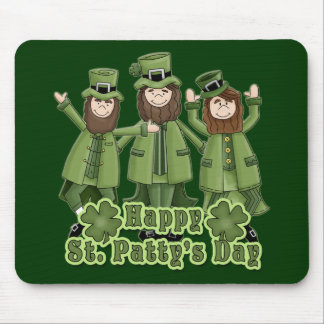 Happy St Patty's Day Leprechauns Mouse Mat